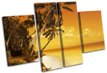 Beach Sunset Seascape - 13-1461(00B)-MP17-LO